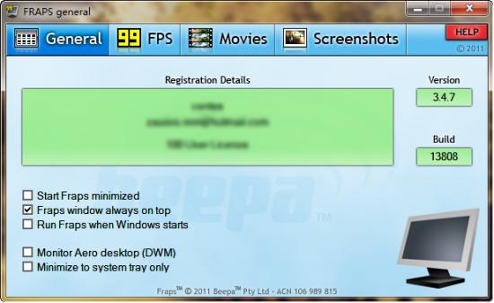 显示当前的FPS工具-Frsps便携版
