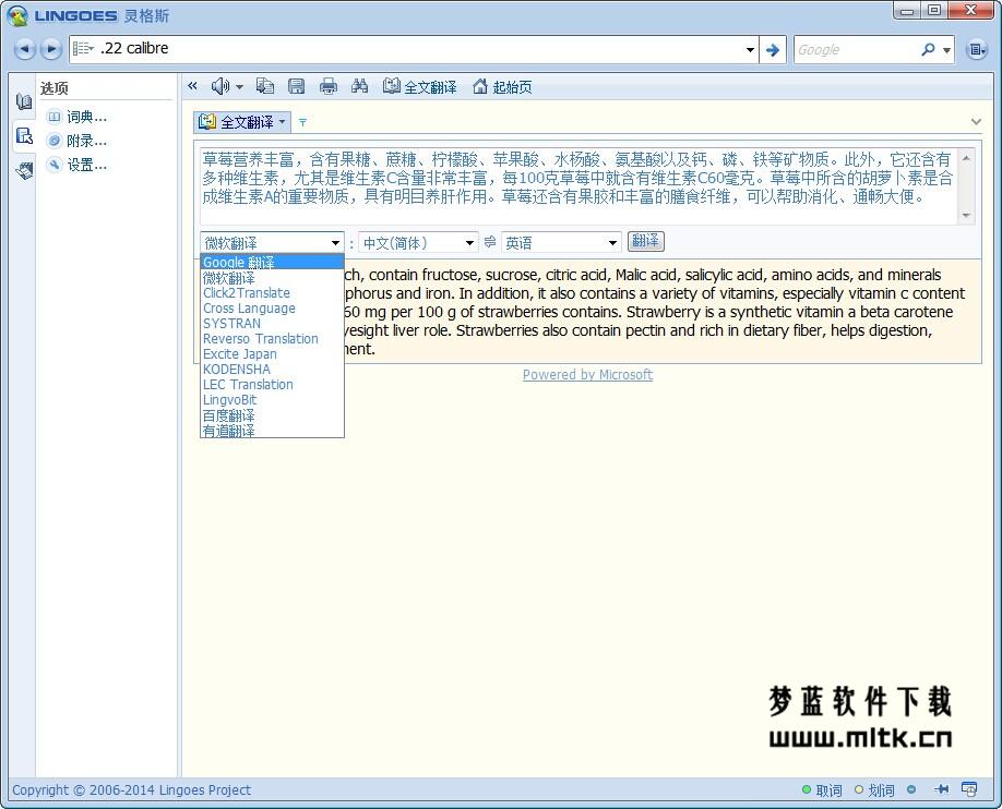 多功能翻译专家-Lingoes灵格斯词霸(绿色便携版)